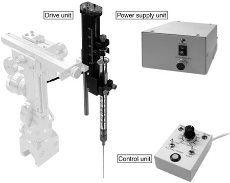 Motorized Microinjector for continuous injection at a fixed speed with minimal vibration