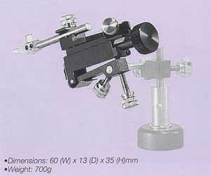 Three-Axis Micromanipulator with Tilt and Pivot Mechanism