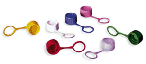 Microcentrifuge Tube Screw-Caps with O-Rings, Assorted Colors (1000/cs)