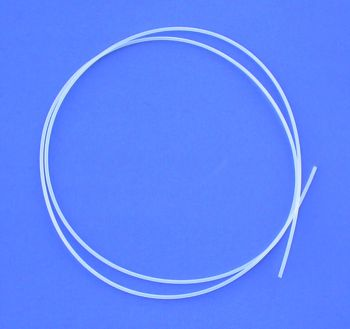 PTFE (same as Teflon) Tubing 0.9mm I.D. (1 meter)