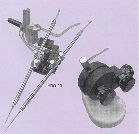 Oil Hydraulic Ball Joint Micromanipulator w/ Two-electrode Holder