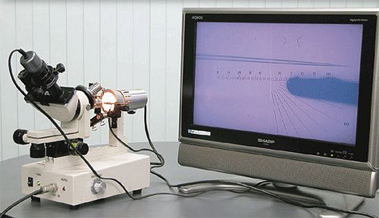 Optional Lens with a CCD Camera