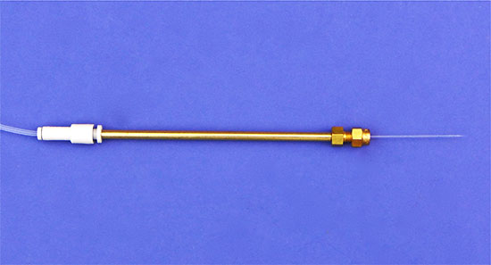 microINJECTOR(TM) Brass Straight-Arm Needle Holder