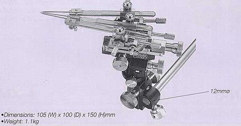 Three-Axis Triple Electrode Coarse/Fine Micromanipulator (with Rotation Mechanism)