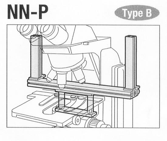 Micromanipulator Mounting Adapter for Nikon E400/E600