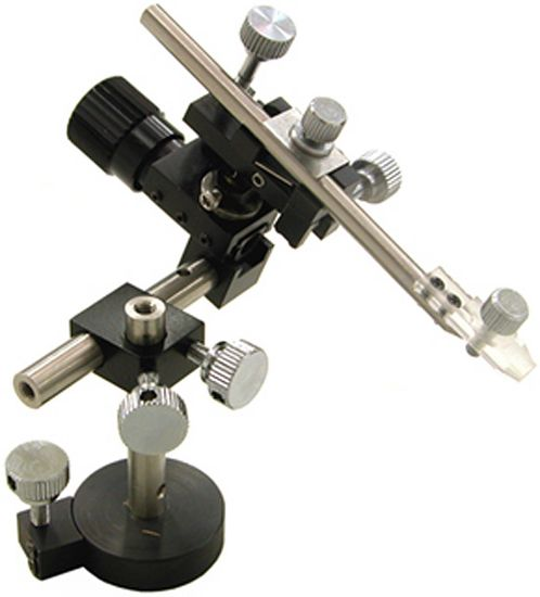 Single-Axis Mechanical Micromanipulator w/ Tilt, Pivot, Magnetic Stand